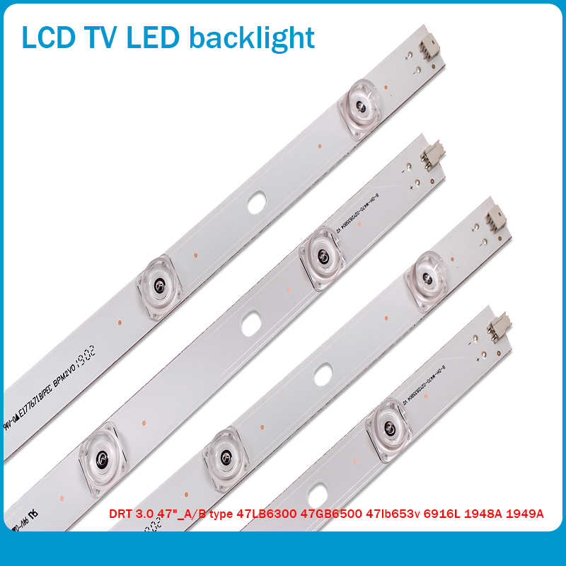 "100% Baru 98 Cm Lampu Latar LED Lampu Strip 9 LED LG 47 ""TV Innotek DRT 3.0 47"" 47LB6300 47GB6500 47LB652V 6916L 1948A 1949A LC47"