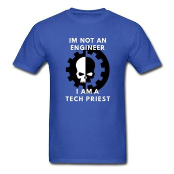 Im not an engineer i am a tech priest Mechanicus T-Shirts Funny T Shirt 100% Cotton Tee USA SIZE image