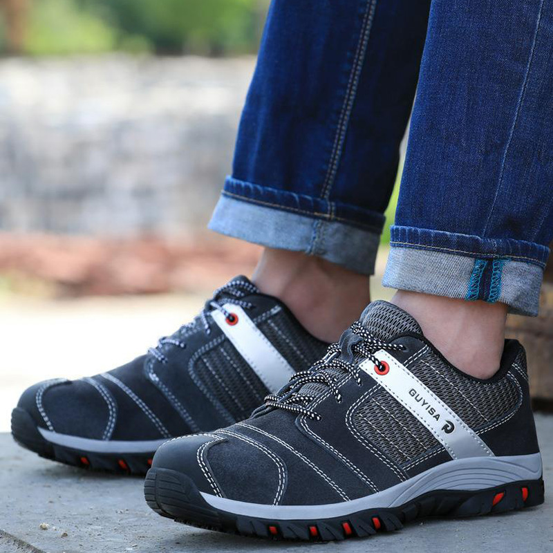 Safety Shoes And Hats Steel Toe Men's Low Oxford Outsole Work Shoes Non-slip Breathable Mesh Shoes Hiking Wear-resistant DXZ0066