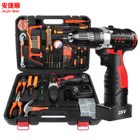 Anjieshun 12/25V Electric Drill Cordless Screwdriver Lithium Battery Mini Drill Cordless Screwdriver Power Tools Cordle