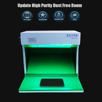 Dust Free Room Work Table Anionic Supper Clean Table With Anti Static Rubber Pad For iPad Mobile LCD Screen Repair Machine|Screen Seperator Machine| |  -
