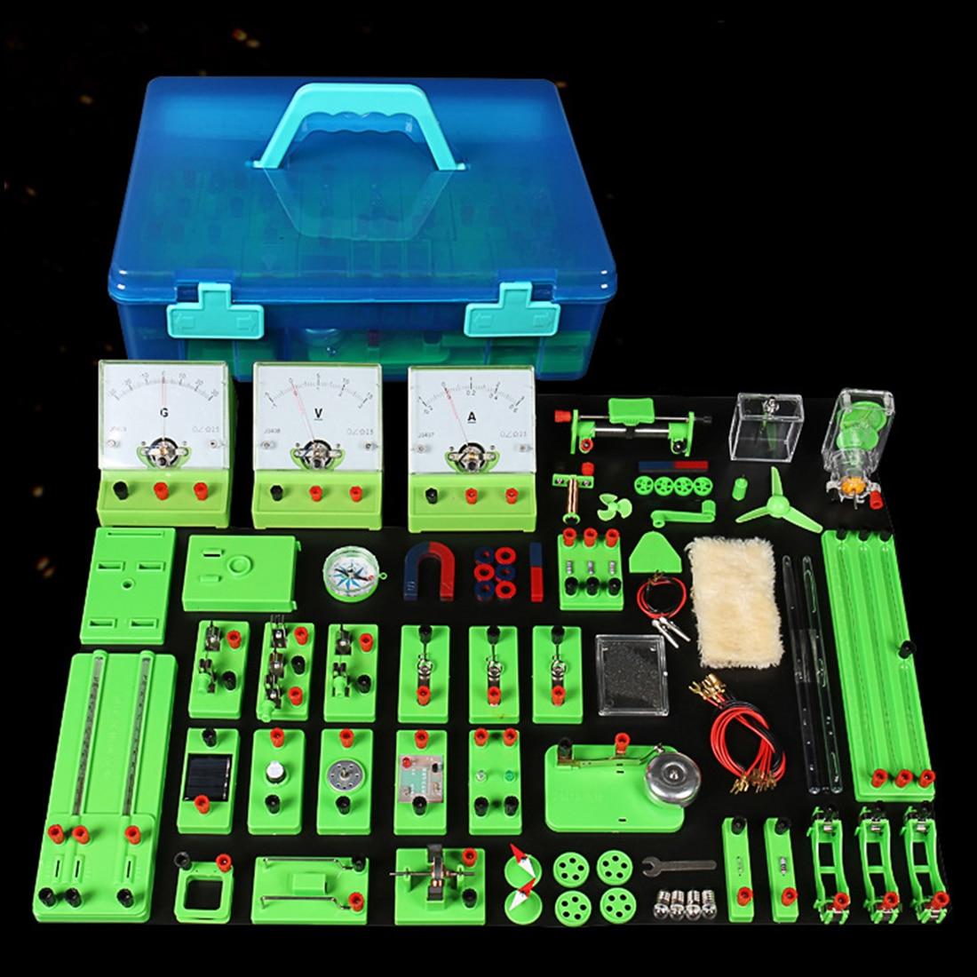 Boîte d'essai de Circuit électrique expérience équipement pédagogique électromagnétique jouet éducatif cadeau de noël pour enfant-Version phare