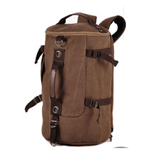 Canvas Casual Drums Backpack Mens Multi-functional Travel Made