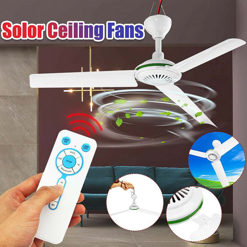 6W 3 Blade Ceiling Fan Soalr Fan 12V High Quality Caravan Camping For Solar Power Cooling Fans Small Air Conditioning Appliances