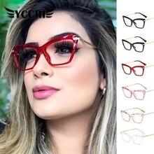 Reading Glasses Eyewear Square Optical Women Fashion Crystal Oculos-De-Sol Multi-Section