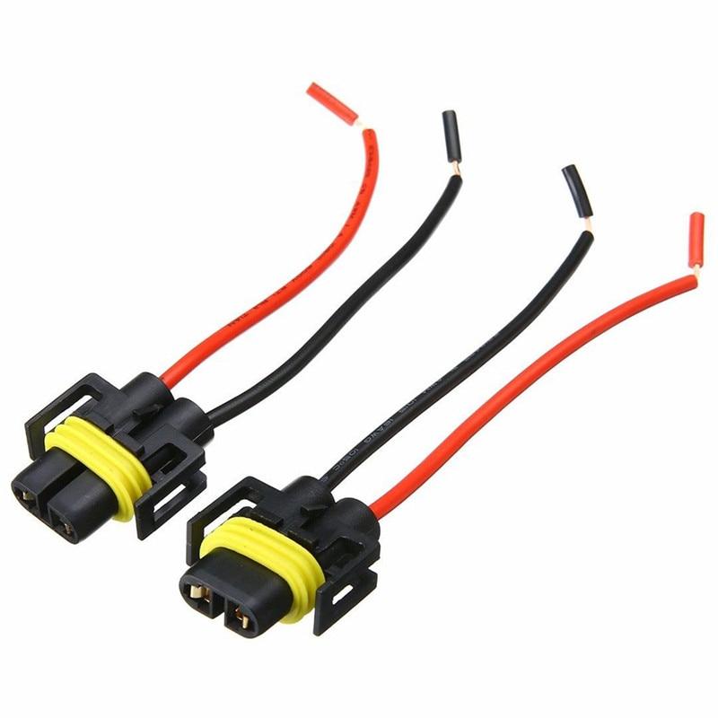 Adaptateur de câblage pour lampe frontale, 2 pièces H8 H9 H11, prise de fil de voiture, connecteur de câble pour ampoule