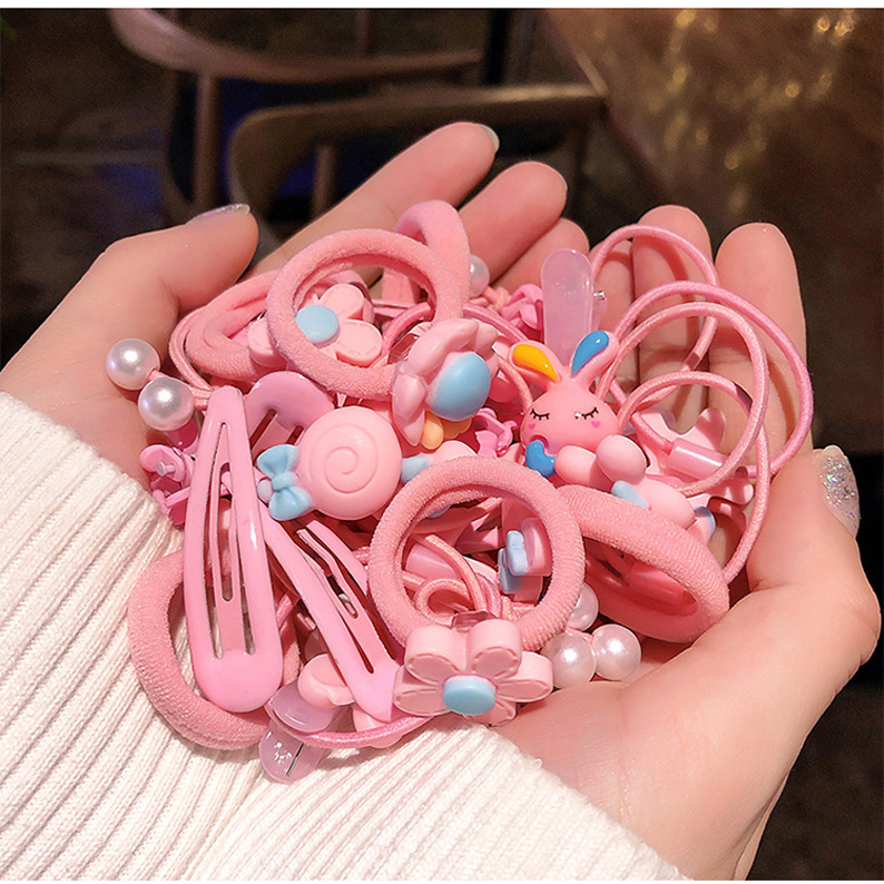 40Pcs Women Girls Hair Band Ring Ties Elastic Rope Hairband Ponytail Holder