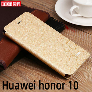 Image 1 - flip case for huawei honor 10 case Honor 10 cover leather tpu slim book back luxury glitter Mofi silicon Honor 10 stand case pu