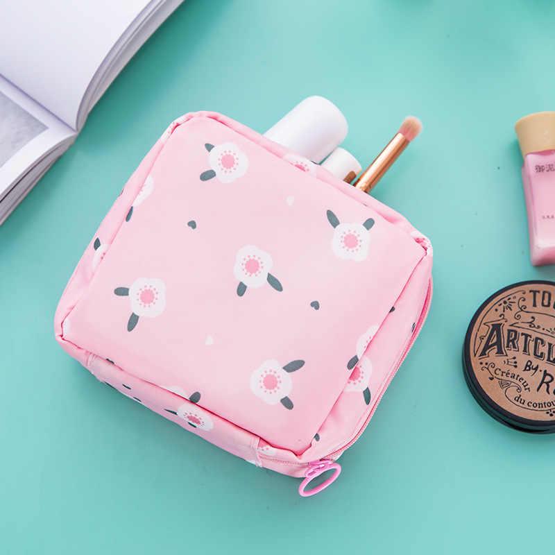 Tampon Lagerung Tasche Sanitär Pad Beutel Frauen Serviette Kosmetik Taschen Organizer Damen Make-Up Tasche Mädchen Tampon Halter Veranstalter