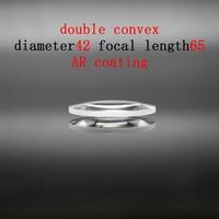 Diameter 42mm Focal Length 65mm Optical Double Convex Lens Factory Custom Optical Glass Prism and Lens