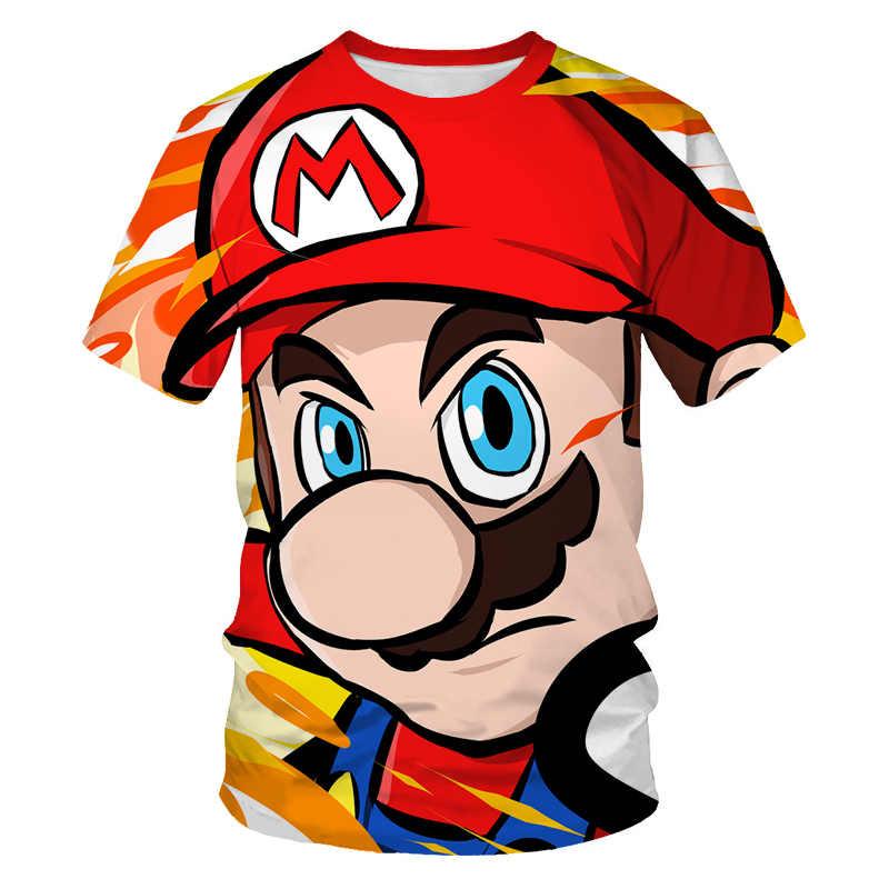 Футболки для мальчиков 2020 г. Футболка с 3d принтом летние модные детские футболки с короткими рукавами в стиле Харадзюку детская одежда для мальчиков футболки для малышей