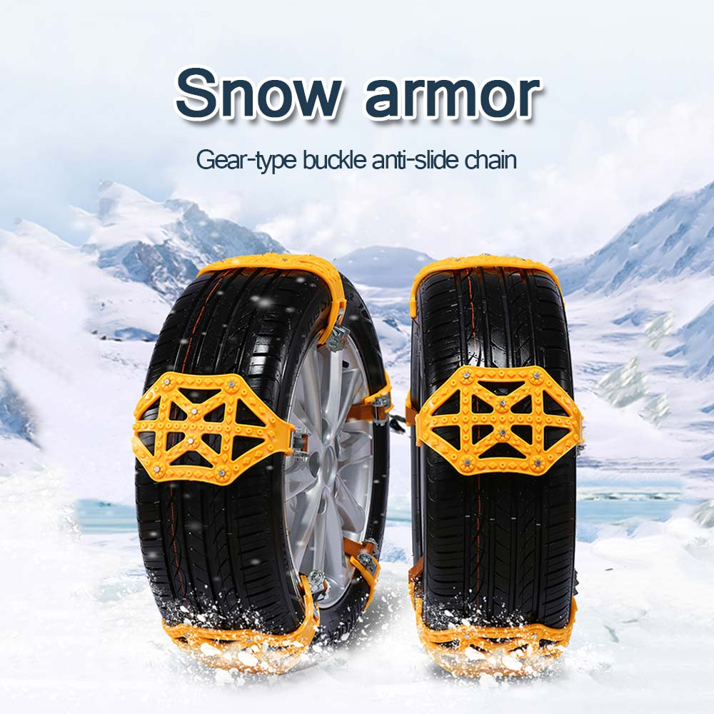 Vehemo TPU chaîne chaînes antidérapantes chaîne antidérapante voiture neige chaîne roue résistant pneu universel