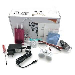 Image 3 - CE Bestanden Dental Lupen Mit Licht 3,5 X420mm Chirurgische Fernglas Gläser Lupe mit LED Scheinwerfer
