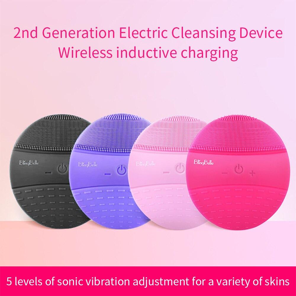 BlingBelle второе поколение очищающее устройство Bell Беспроводная зарядка силиконовая щетка моющее устройство