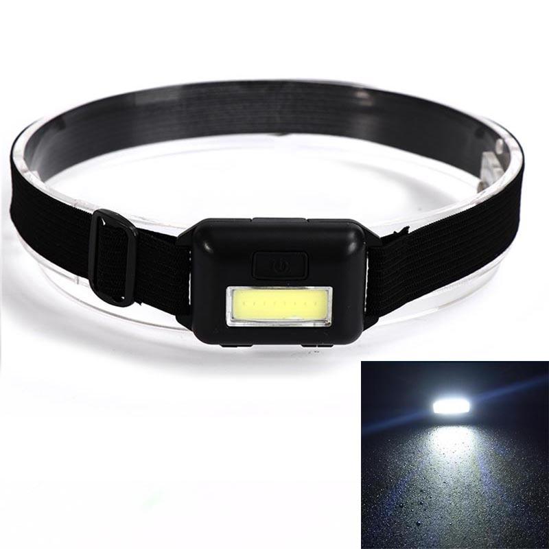 Powerful 3 Modes Frontal LED Headlight Waterproof COB Headlamp Portable Camping Fishing Torch Lantern Hiking Running Flashlight