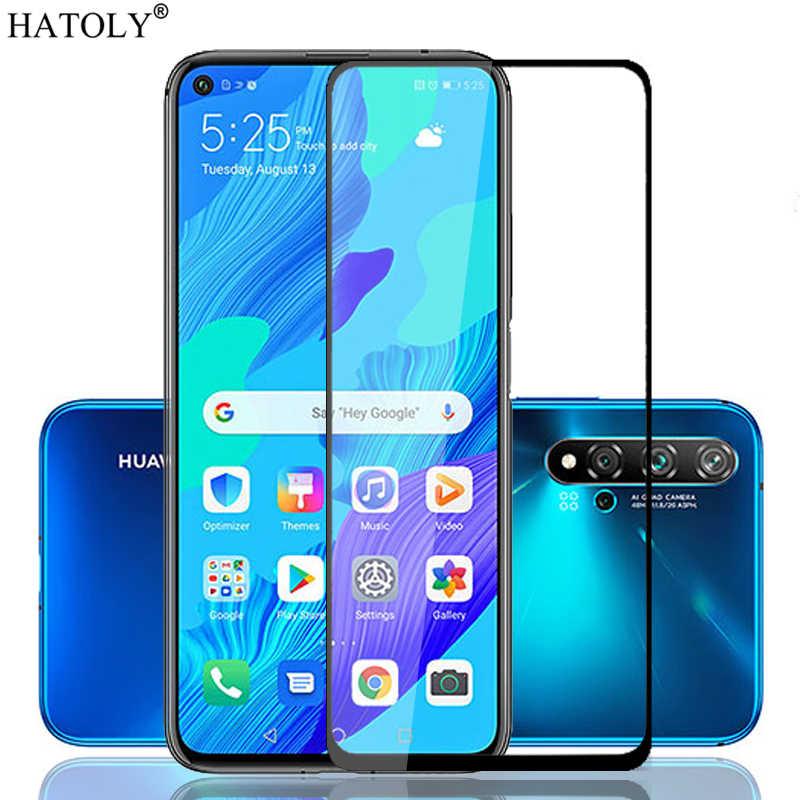 זכוכית על נובה 5T מזג זכוכית עבור Huawei נובה 5T מסך מגן HD מלא דבק כיסוי מגן טלפון זכוכית עבור Huawei נובה 5T