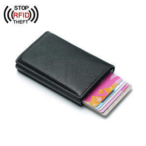 Anti-theft Men Card Holder Wallet For Men Blocking RFID Credit Card Holder PU Leather Women Purse Men Wallets Male ID Bank Card
