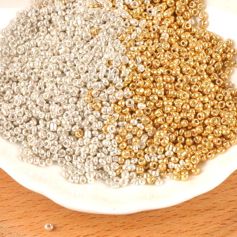 2/3 мм цвета золотистый и серебристый Чешский Стекло круглые прокладные бусины для изготовления ювелирных изделий BLUV02X