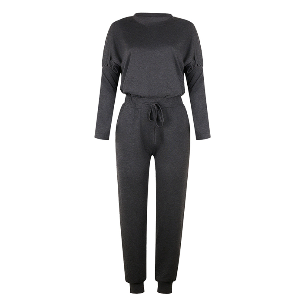 Sleeve - Women Solid Color Long Sleeve Sport Tracksuit