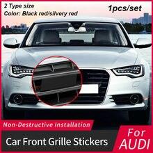 1 шт. металлическая наклейка с буквой и номером на переднюю решетку радиатора, черные/серебристо-красные наклейки для S3 S4 S5 S6 RS3 RS4 RS5 RS6 RS8, Стай...