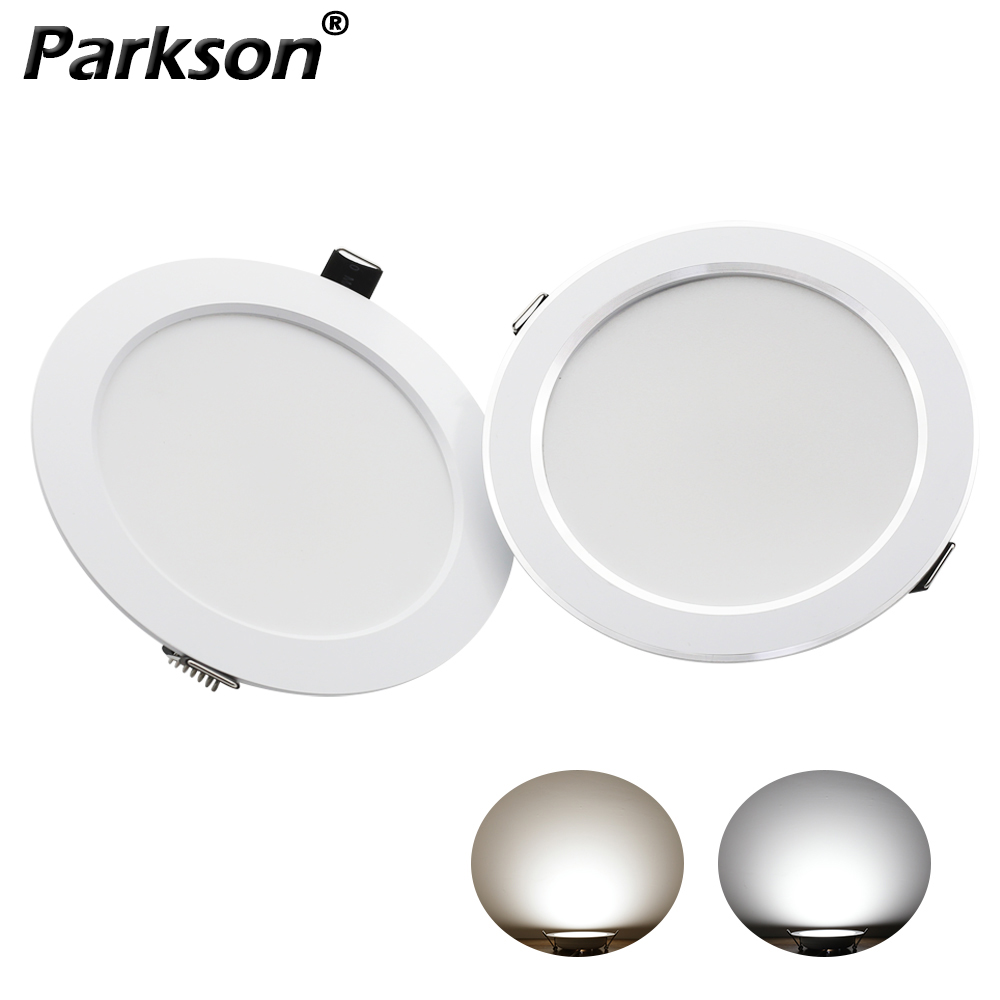 LED Downlight AC 220V 7W 9W 12W 15W 18W Cold Warm Round Recessed Lamp LED Ceiling Light Silver / White Side For Kitchen Bedroom