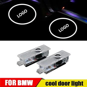 For BMW welcome light 12V 5W Car Door Led Laser Projector Logo Ghost Shadow Light For e90,e46,f11,e61,e60,f31 projection lamp jurus 12v led door courtesy light with car logo for chrysler for ssangyong for abarth lamp laser projector ghost shadow welcome