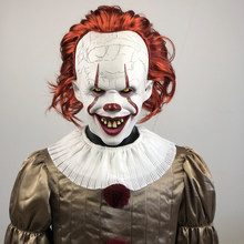 Payaso Pennywise máscara de disfraces de cosplay IT de Stephen King Capítulo 2 Horror payaso del traje del partido de Halloween Prop 2019 Deluxe(China)
