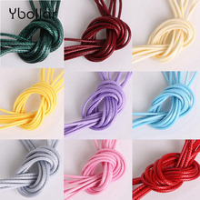 2mm 5 Meters Waxed Cotton Cord Thread String Strap Necklace Rope For Jewelry Making Bracelet DIY Color Choose