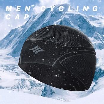 Santic Winter Keep Warm Sport Cap Windproof Cycling Cap Face Mask Elasticity Skiing Climbing Running Hat Headwear 0-10 Degree
