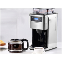 Fully Automatic Coffee Machine Maker Grinder Drip Type Household Small One Machine Grinding Beans Soy Flour LED Display