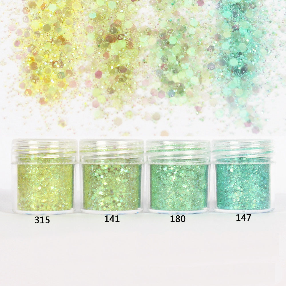 Ice Magic Set Hexagon Glitter Sequin Mix Party Shining Embellishment For Resin Crafts Festive Jewelry Tools UV Resin Pigment