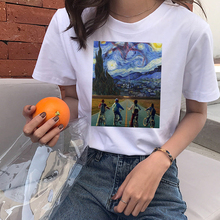 Stranger Van Gogh Things t shirt Women Unisex Short Sleeve O-neck Tumblr Tees Harajuku Print 90s Streetwear Casual