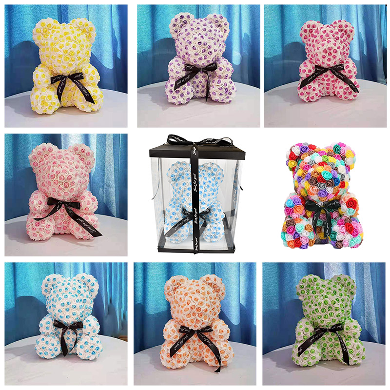2019 New style 40cm Rose Teddy Bear Soap Foam Rose Bear With Gift Box for Christmas day Valentines Day Girlfriend Birthday Gift|Artificial & Dried Flowers|   - AliExpress