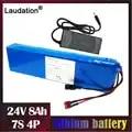 24V batteria al litio built in 15a bms con il caricatore 8Ah 7s 4p 18650 pack 29.4 V 8000mAh bateria 24v per 250W 350W sedia a rotelle