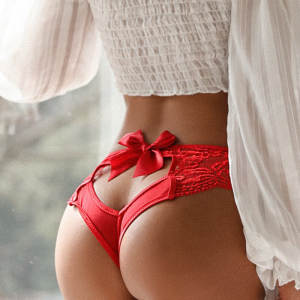 Bow Panties Transpar...