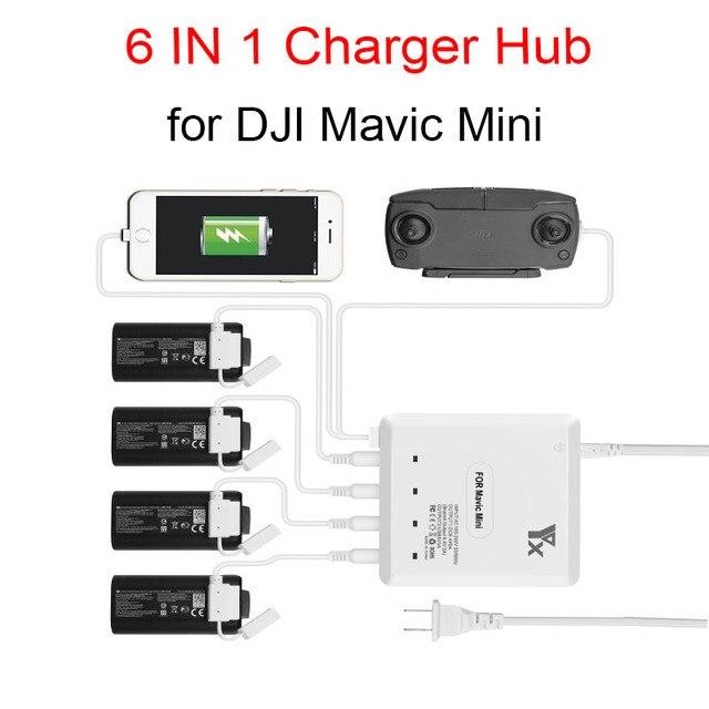 6 で 1 インテリジェントマルチ充電器 dji mavic ミニドローンバッテリー充電ハブ高速スマートバッテリー充電器 usb ポート