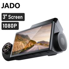 JADO D350S kamera samochodowa 1080P samochodowa IPS ekran Cam Dashcam 24 godziny monitorowanie parkowania Dvr kamera samochodowa kamerka samochodowa Dash tanie tanio CN (pochodzenie) other Po załadunku maszyna zintegrowany Klasa 10 105 °-140 ° Samochód dvr 1920x1080 Wewnętrzny G-sensor