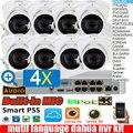 Сетевой видеорегистратор dahua mutil язык 4K H.265 NVR4108-8P-4KS2 4ch POE IP Камера наборы с 8 шт. IPC-HDW5231R-ZE 2MP WDR (широкий динамический диапазон) 4X зум аудио Камер...