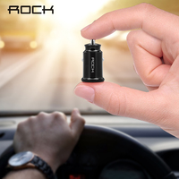 ROCK Dual USB Car Charger QC 3.0 USB Fast Charge For iPhone Samsung S8 S9 S10 Xiaomi mi 9 Huawei mini USB Phone Car Charger|Car Chargers| |  -