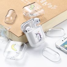 Чехол для Airpods, милый Роскошный прозрачный жесткий чехол с рисунком сердца для Airpod, защитный чехол для Air Pods 1, 2, чехол