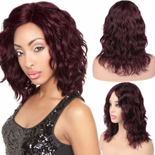 HANNE Wig Brazilian 100% Human Hair Wigs Lace Front Natural Wave Wig Short Wavy NaturalBurg Remy Hair Wigs for Black/White Women