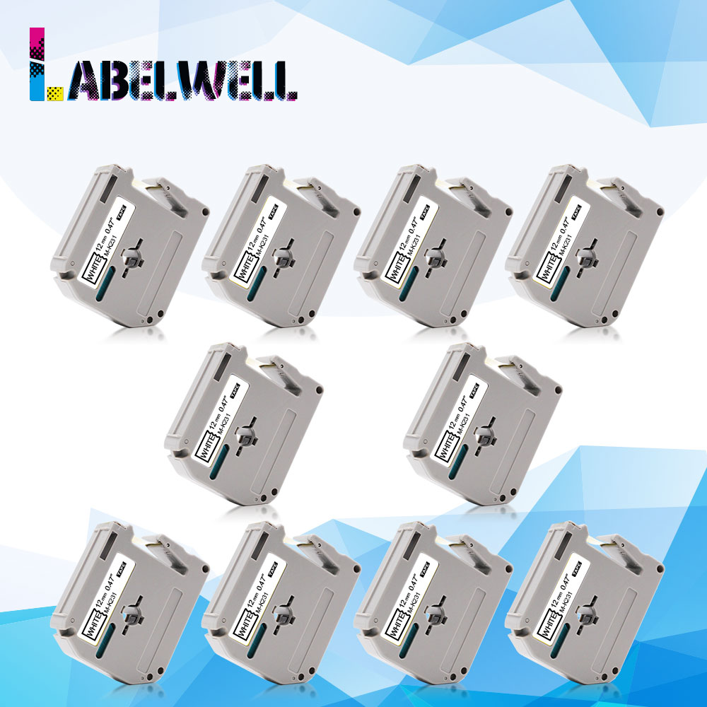Labelwell 12mm Label Tape MK231 Compatible for brother M K231 MK 231 MK 231 for Brother
