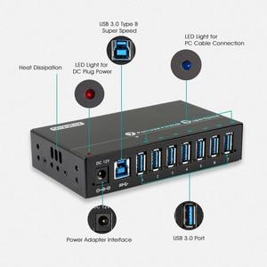 Image 4 - Sipolar 産業 usb 3.0 充電ハブ 7 ポート 12 5v の usb 充電器ハブアルミと 12 v 3A 電源アダプタ led インジケータブラケット
