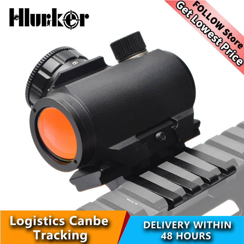 Hlurker Hunting Airsoft M4 AR15 Air Rifle Micro Holographic Red Dot Collimator Riflescope Spotting Scope Sight/20mm Scope Mount