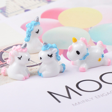 5 Pcs/lot  Creative Childrens Toys Resin Unicorn Clay Popular Diy Slime Accessories Kids Tools Decoration