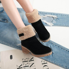 Women Winter Fur Warm Snow Boots Ladies Warm wool booties Ankle Boot Comfortable