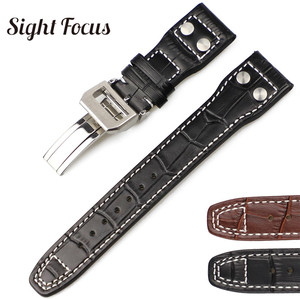 22mm Studded Genuine Leather S