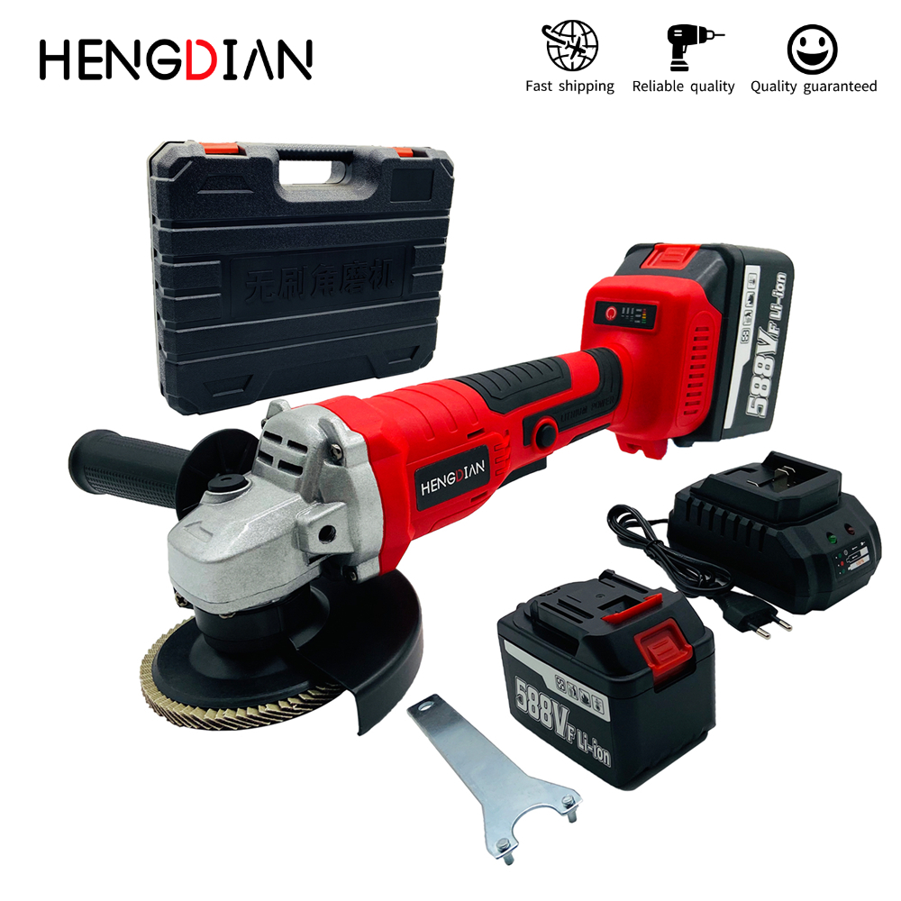 125mm Angle Grinder 21V Cordless Rechargeable Brushless Electric Angle Grinder