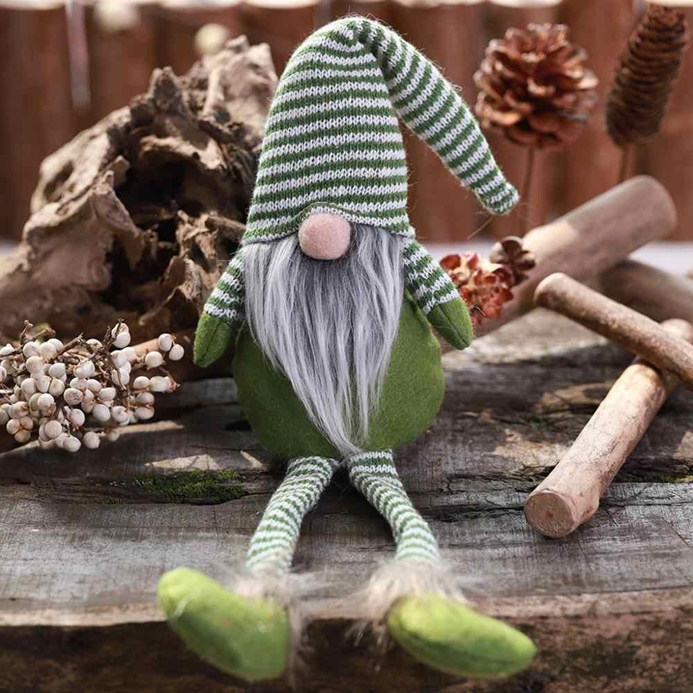20 # lana lindo Gnome muñeca de Navidad colgante creativo decoración del árbol de Navidad adornos navideños para el hogar новый год