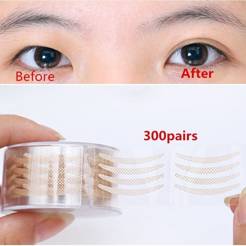 Fashion Lace Natural Mesh Tape Eye Lift Strips Double Eyelid Sticker Adhesive